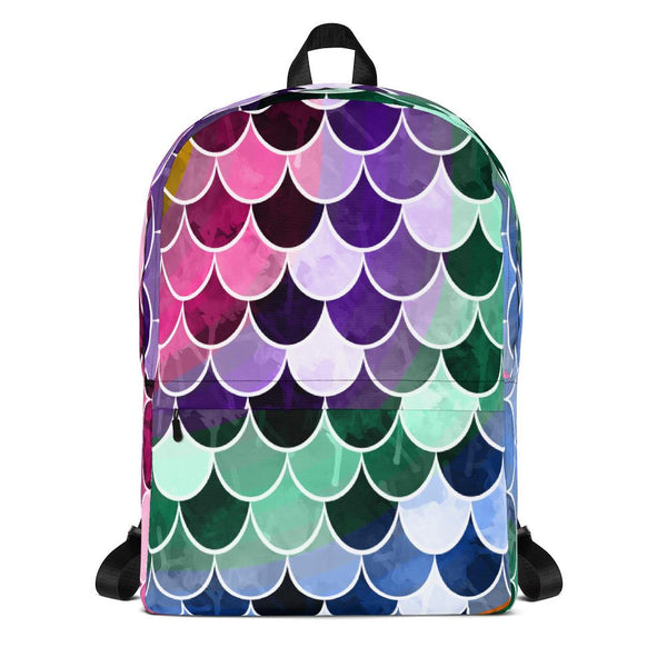 Colorful Mermaid Scale Backpack-famenxt