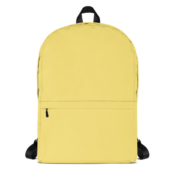 Soft Yellow Backpack from Solid Color Series-famenxt
