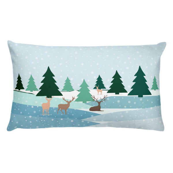 Winter Landscape Basic Pillow with insert-famenxt