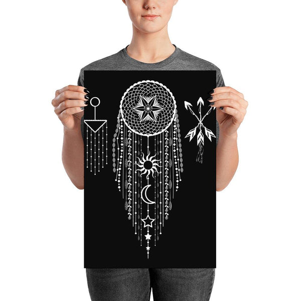 Bohemian Hanging Dreamcatcher from my15bohemianart Collection Poster-Posters-famenxt