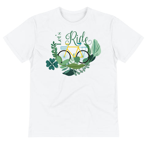 Lets Ride Unisex Eco Tee From Save the Mother Earth Collection-famenxt