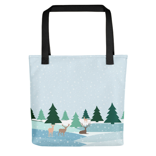 Winter Landscape Tote bag-famenxt
