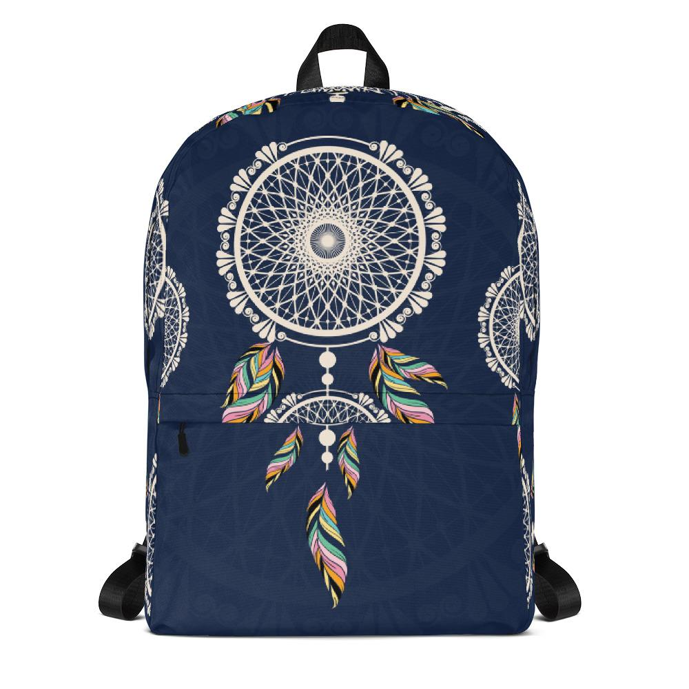 Bohemian Hanging Blue Dreamcatcher from my15bohemianart Collection Backpack-famenxt