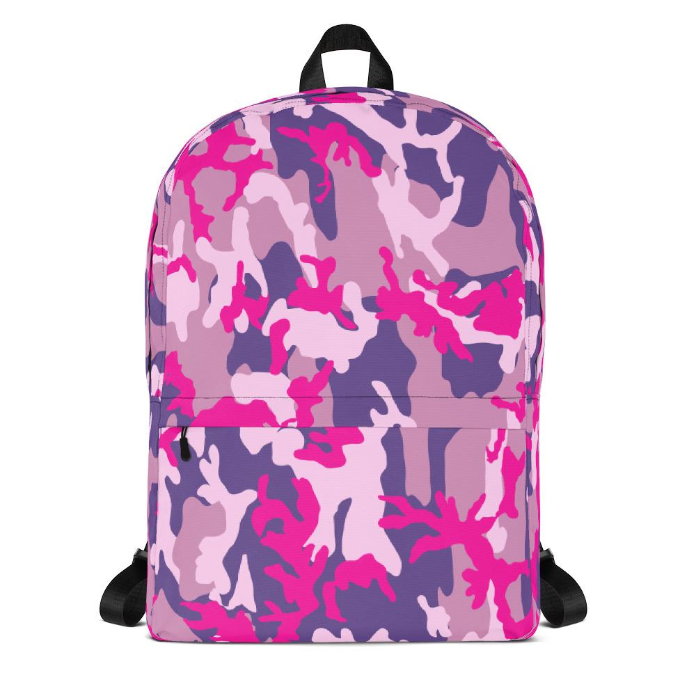Pink Camouflage Backpack-famenxt