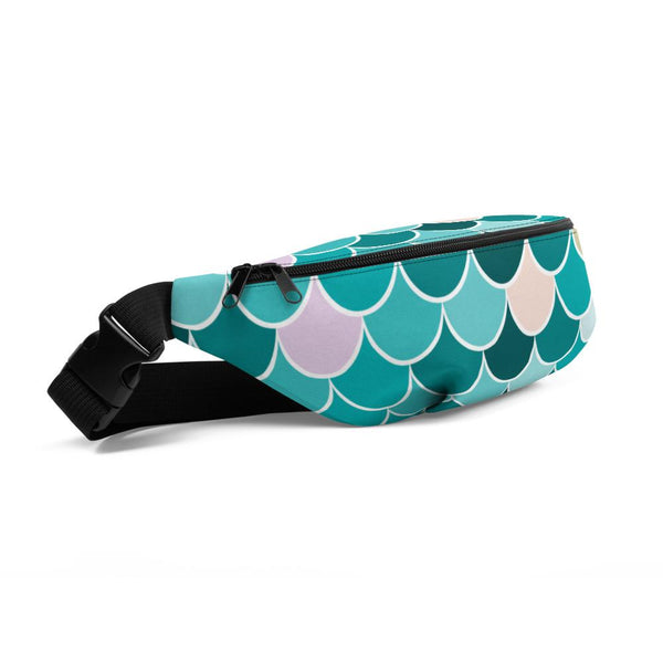 Fanny Pack for Men and Women, Teal Mermaid Waist Pack Belt Bags with Adjustable Strap-famenxt