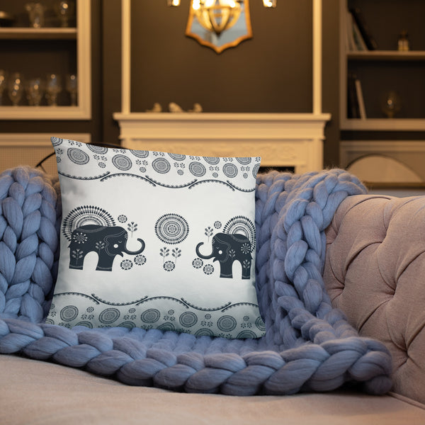 Bohemian Elephants from my15bohemianart Collection Basic Pillow-Pillows-famenxt