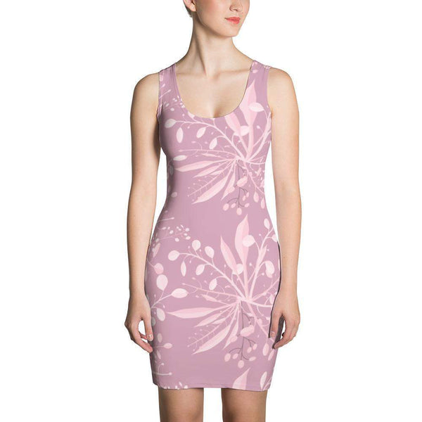 Rose gold botanical Dress-famenxt
