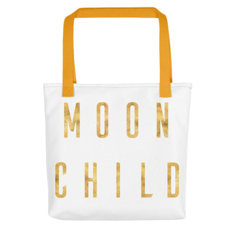 Moon Child Gold Tote bag-famenxt