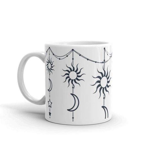 Bohemian Hanging Sun Moon Stars from my15bohemianart Collection Mug-Drinkware-famenxt