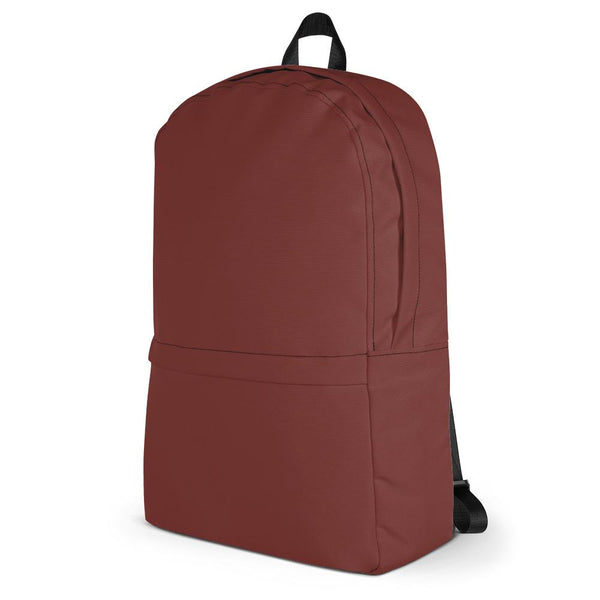 Auburn Red Backpack from Solid Color Series-famenxt