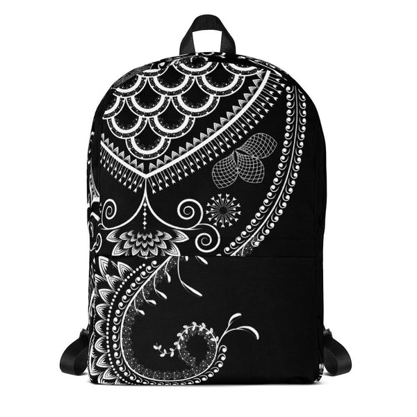 Boho Floral Ornate from my15bohemianart Collection Backpack-famenxt