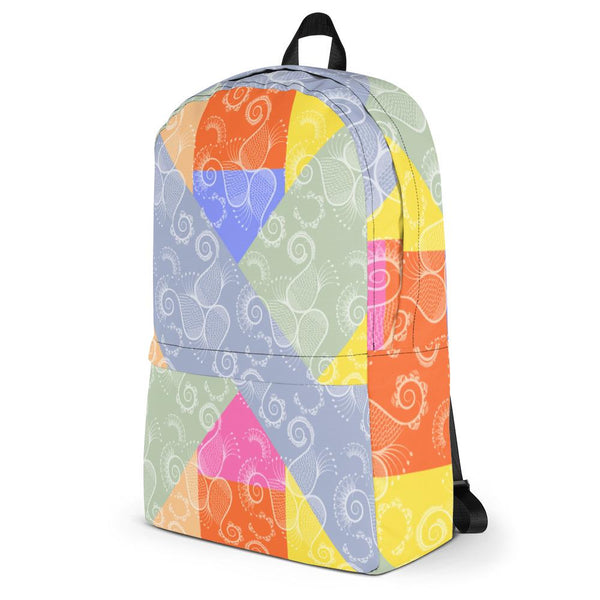 Colorful Paisley Backpack-famenxt