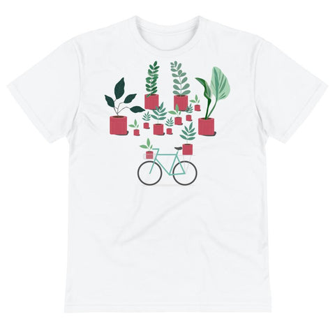 Plants and Bicycle Unisex Eco Tee From Save the Mother Earth Collection-famenxt