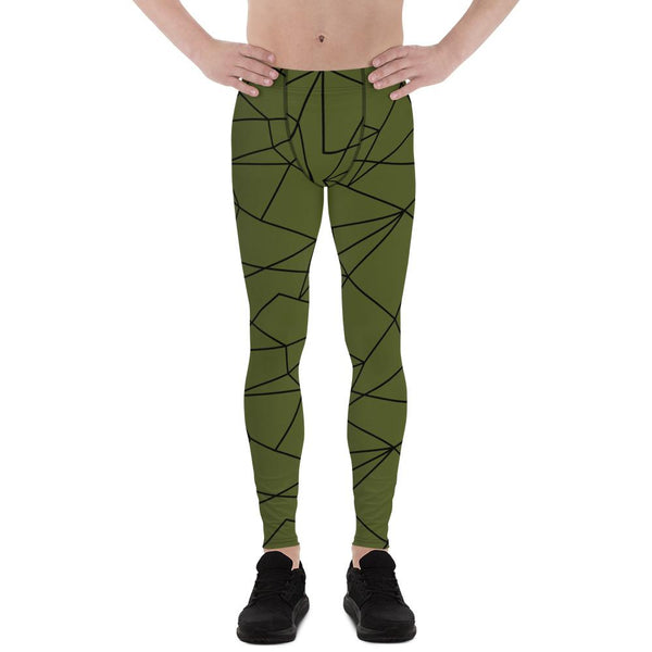 One Goal One Passion Military Green Men Sportswear Leggings-famenxt