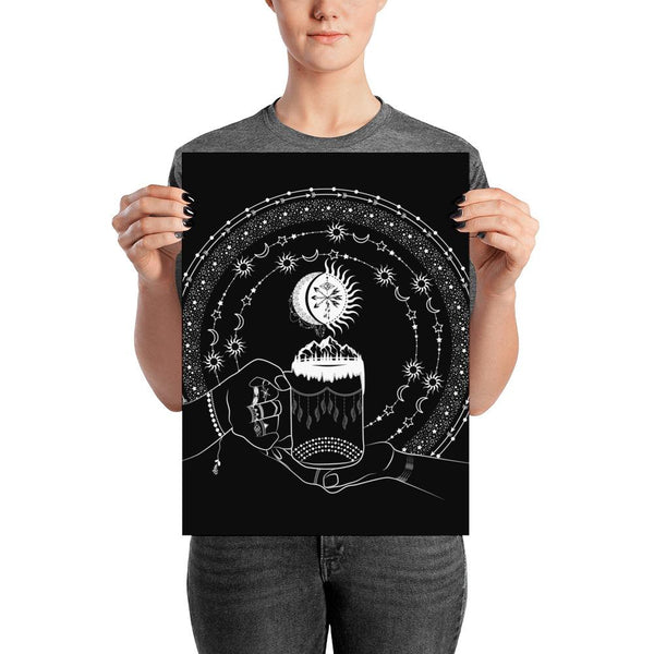 My Bohemian World from my15bohemianart Collection Black Poster-Posters-famenxt