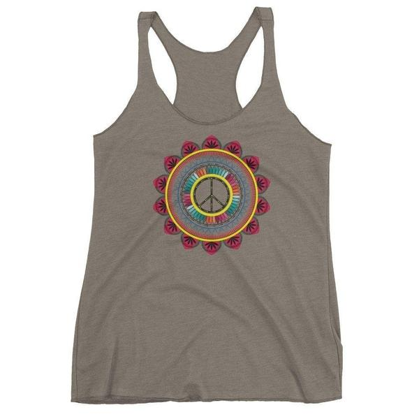 Peace mandala Women's tank top-famenxt