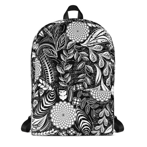 Black Botanical Garden Backpack-famenxt