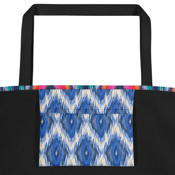 Ikat Blue Beach Bag-famenxt