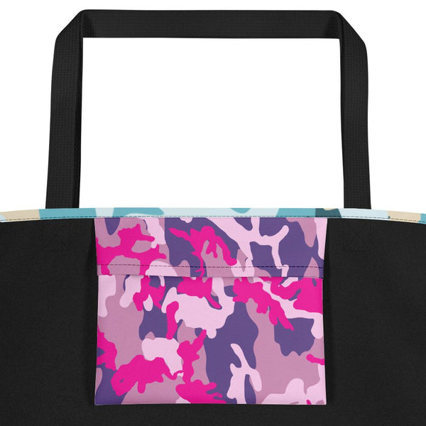 Blue Camouflage Beach Bag-famenxt