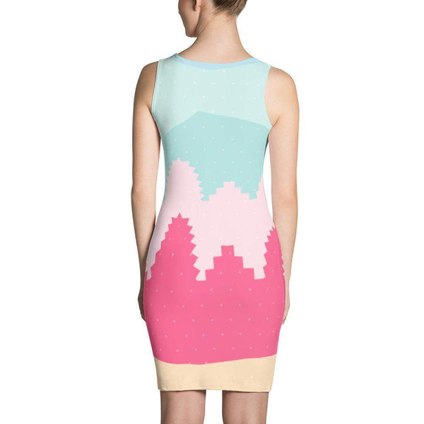 Soft Pastel Abstract Dress-famenxt