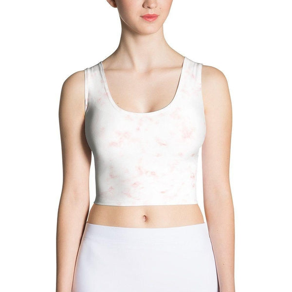Red marble Sublimation Cut & Sew Crop Top-famenxt