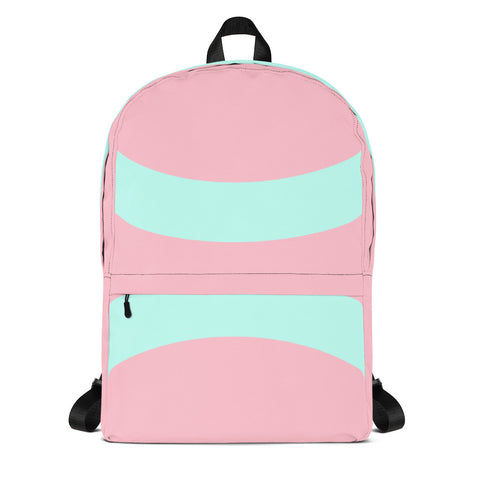 Pastel Pink Mint Minimal Backpack-famenxt