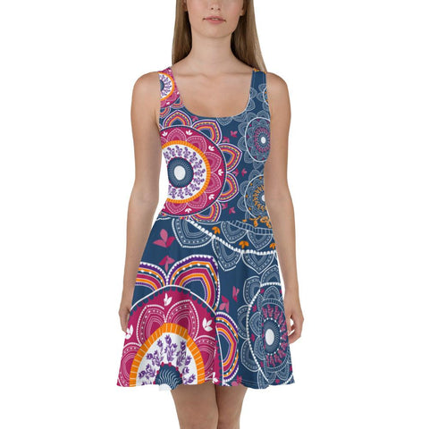 Joyful Mandala Skater Dress-famenxt