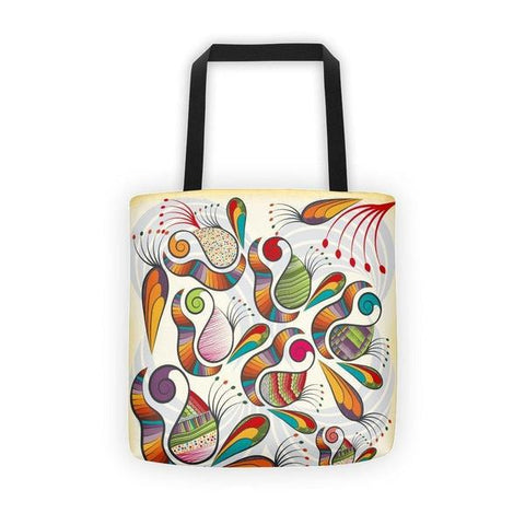 Indian paisley pattern Tote bag-tote bags-famenxt