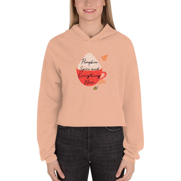Pumpkin Spice and Everything Nice Crop Hoodie-famenxt