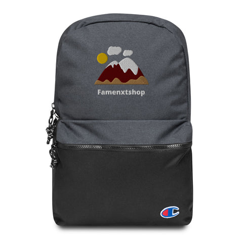 Mountain is calling Embroidered Champion Backpack-famenxt