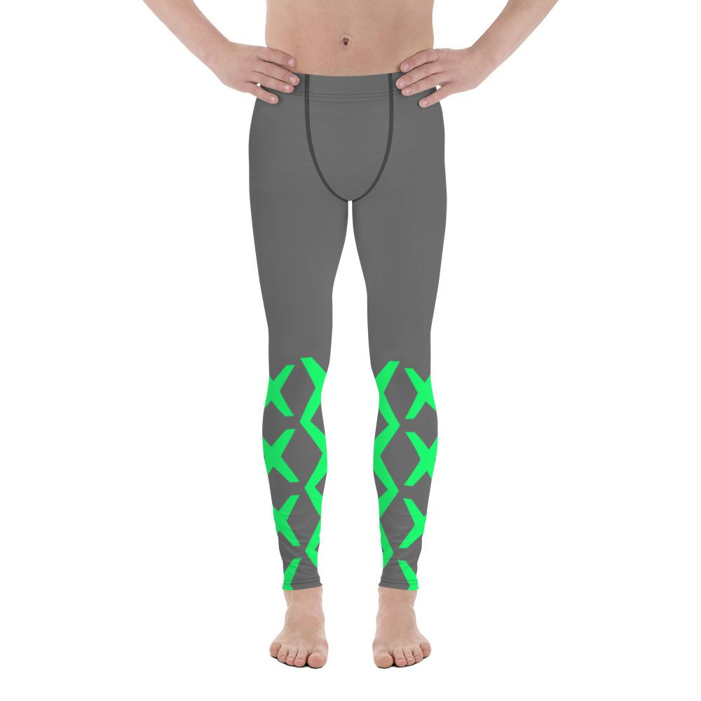 Neon Grey Men Sportswear Leggings-famenxt