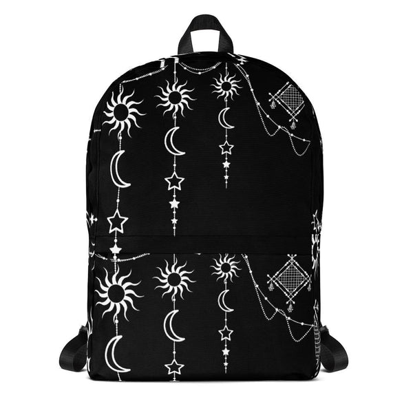 Bohemian Hanging Sun Moon Stars from my15bohemianart Collection Backpack-famenxt