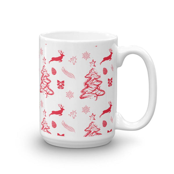 Christmas Pattern Red Mug-famenxt