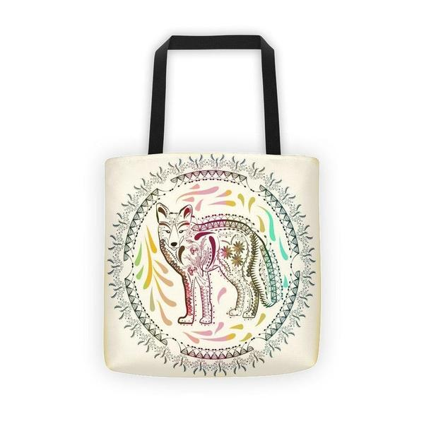 Ornamental boho fox Tote bag-tote bags-famenxt