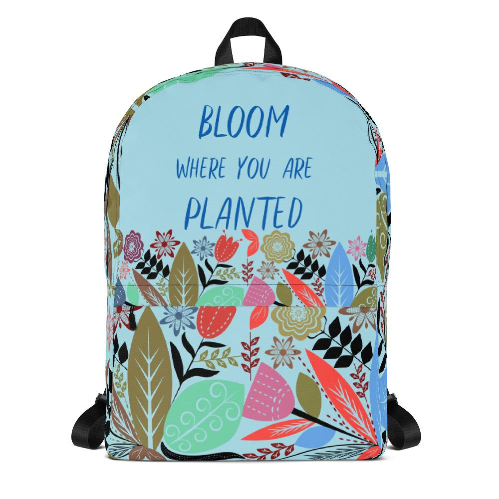 Bloom Where You Are Planted Backpack-famenxt