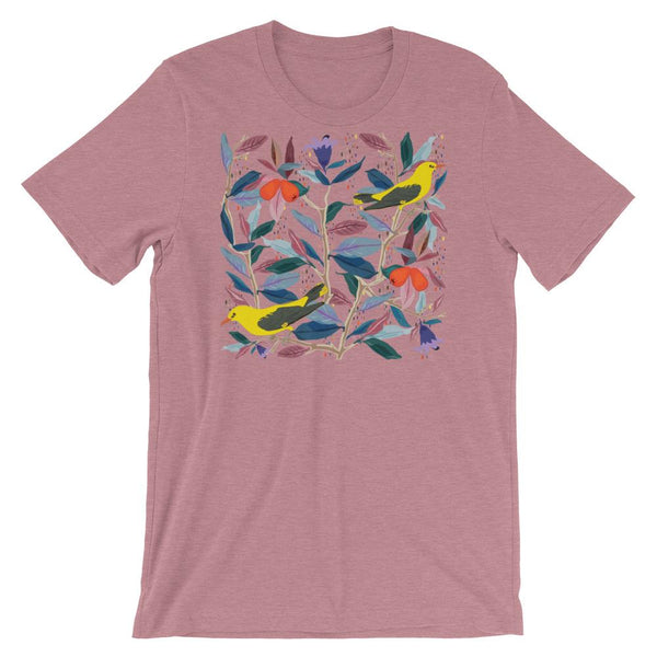 From mybirdparadise Collection Eurasian Golden Oriole Short-Sleeve Unisex T-Shirt-famenxt
