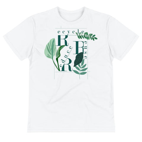 recycle Reuse Reduce Unisex Eco Tee From Save the Mother Earth Collection-famenxt
