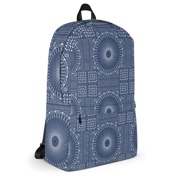 Gujarat Bandhani Blue from my15bohemianart Collection Backpack-famenxt