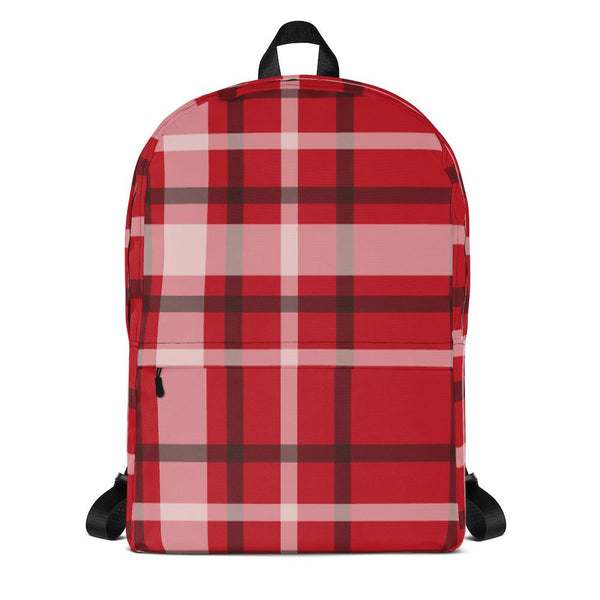 Plaid Red Backpack-famenxt