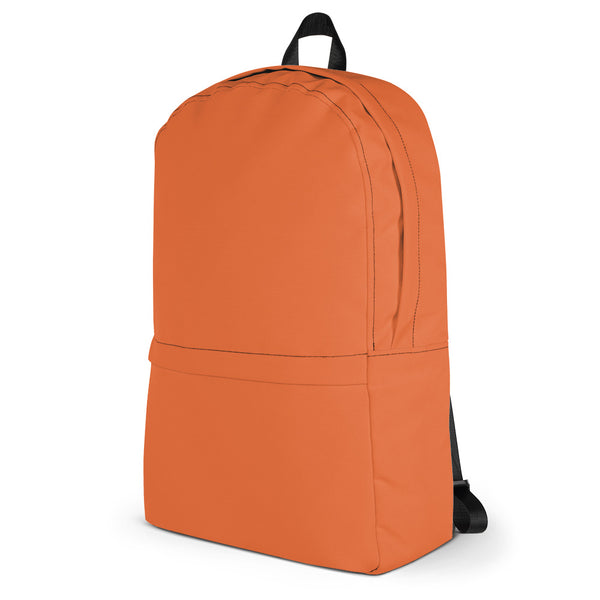 Cool Orange Backpack from Solid Color Series-famenxt