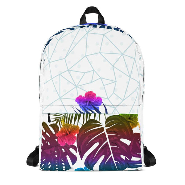 Tropical Hue Leaves Abstract Backpack-famenxt