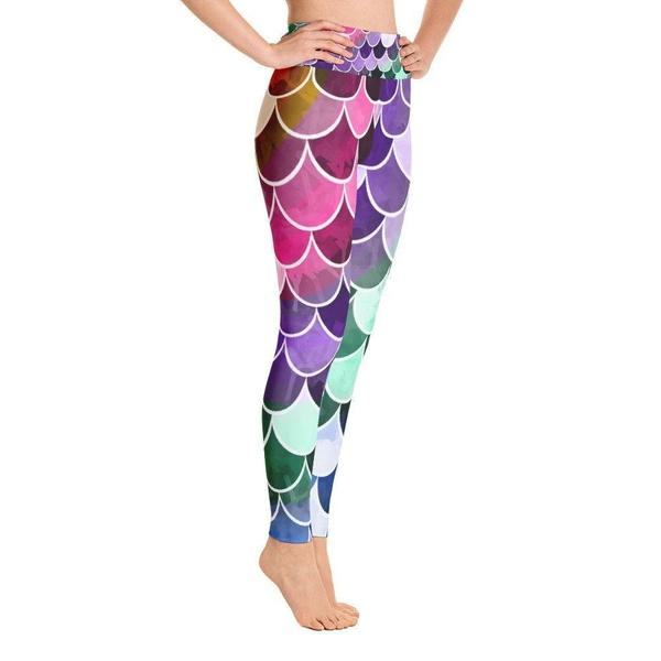 Mermaid fish scale Yoga Leggings-famenxt
