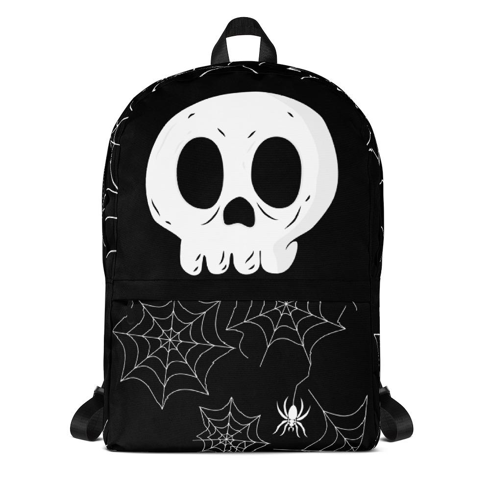 Skull Spiders and Web Backpack-famenxt