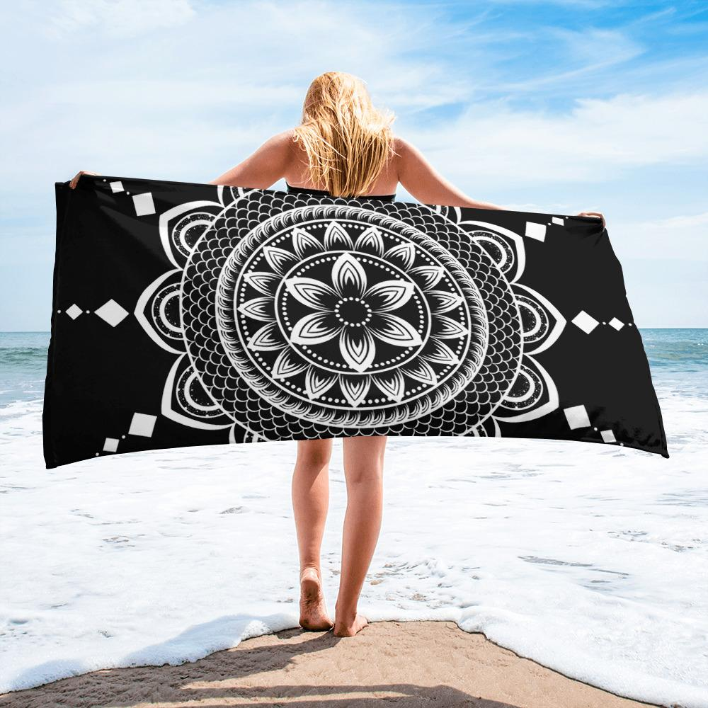 Mandala from my15bohemianart Collection Beach Towel-famenxt