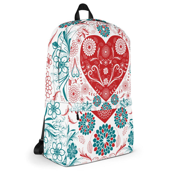 Flowers and Heart Backpack-famenxt