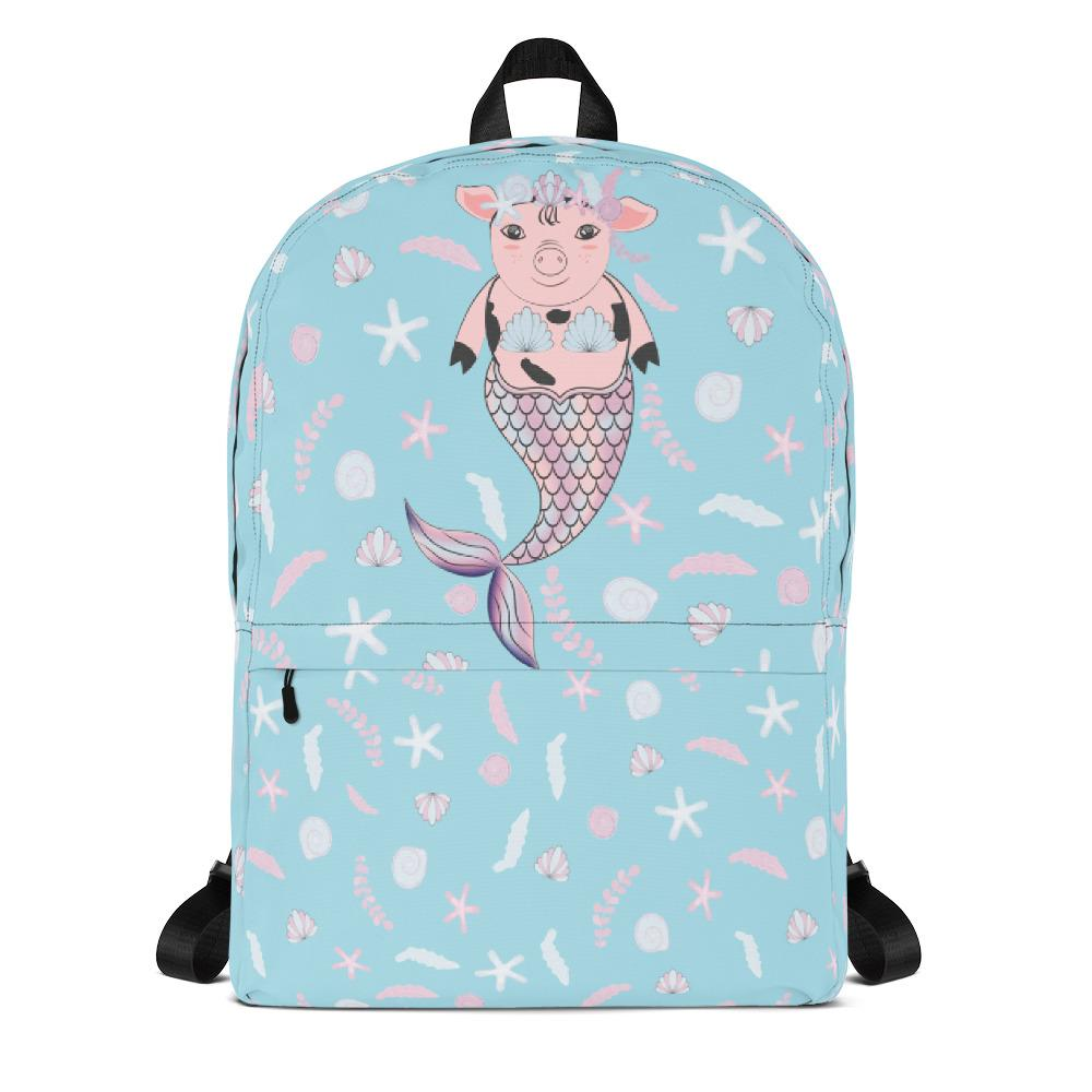 Mermaid Pig Backpack-famenxt
