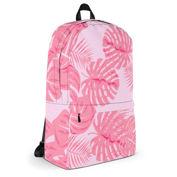 Flamingo Pink Tropical Backpack-famenxt