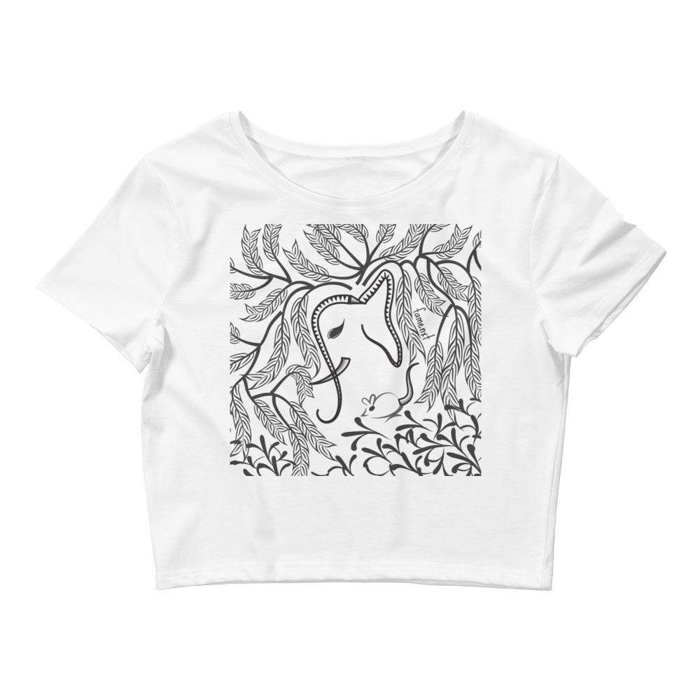 Elephant and Mouse Women's Crop Tee-famenxt