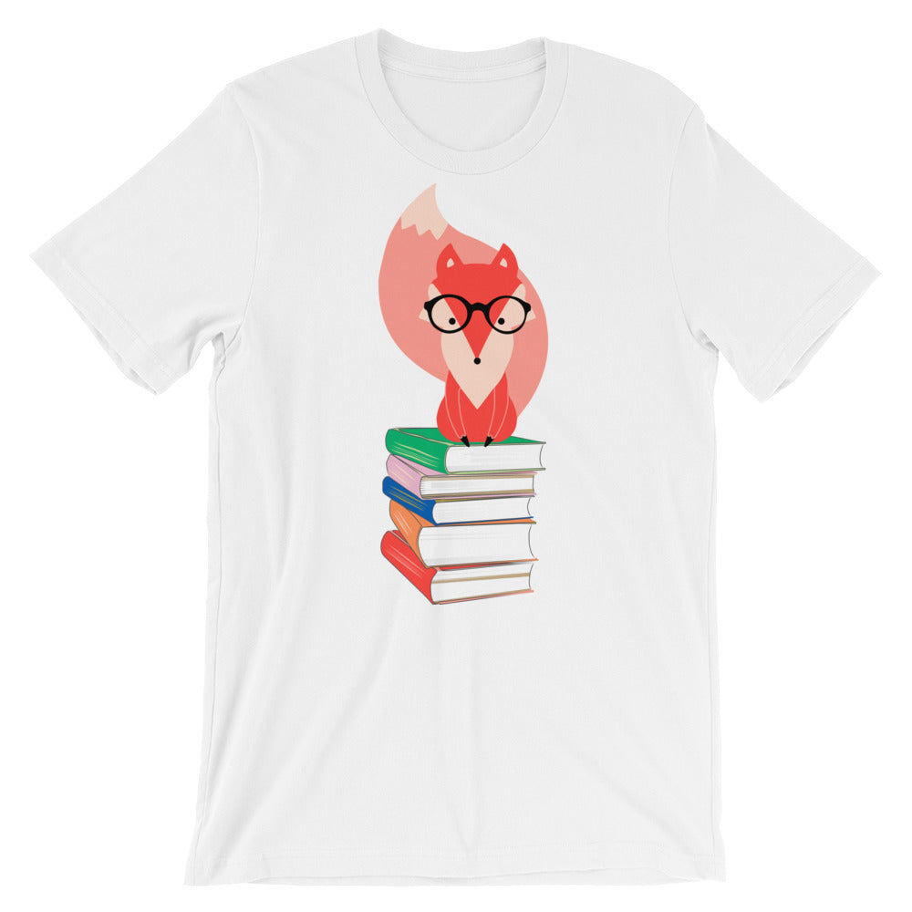 Books and Fox Short-Sleeve Unisex T-Shirt-famenxt