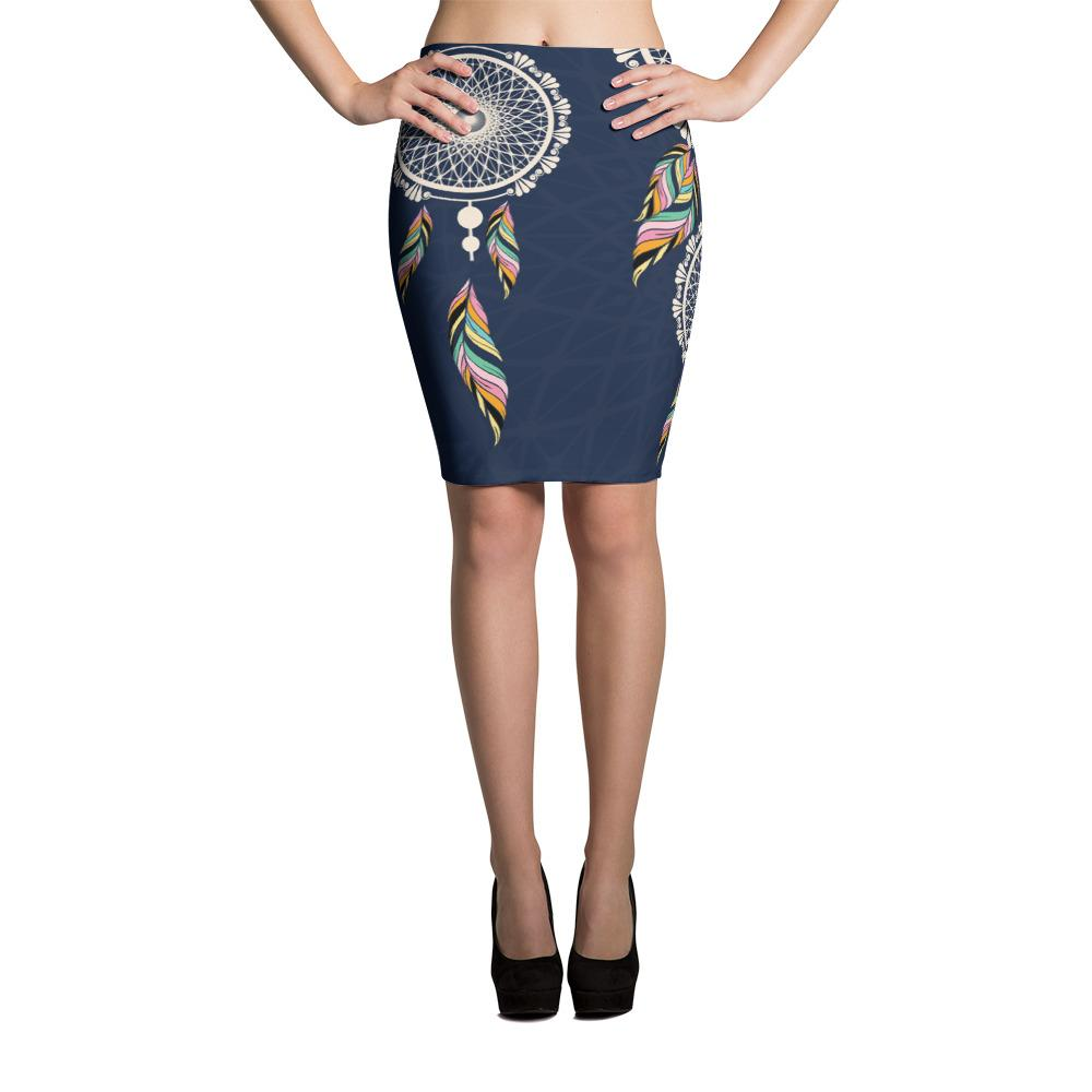 Dream Catcher Pencil Skirt-famenxt